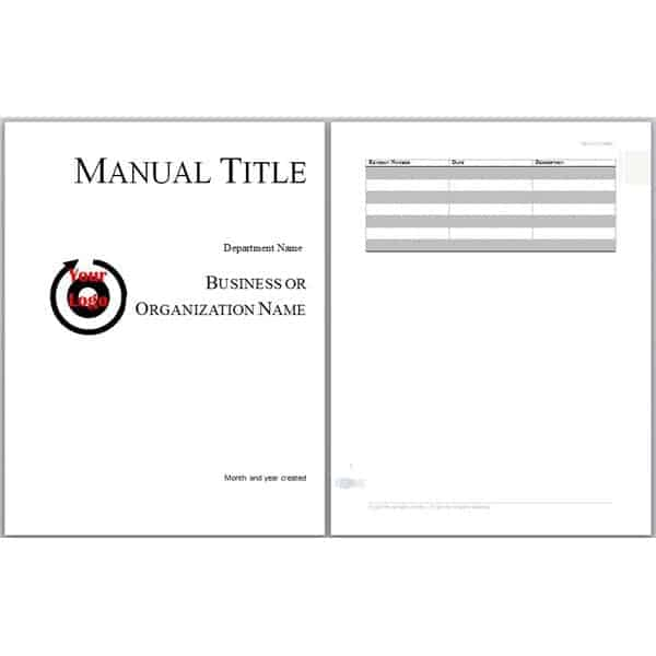 8 User Manual Templates Word Excel PDF Formats – Technical Manual Template