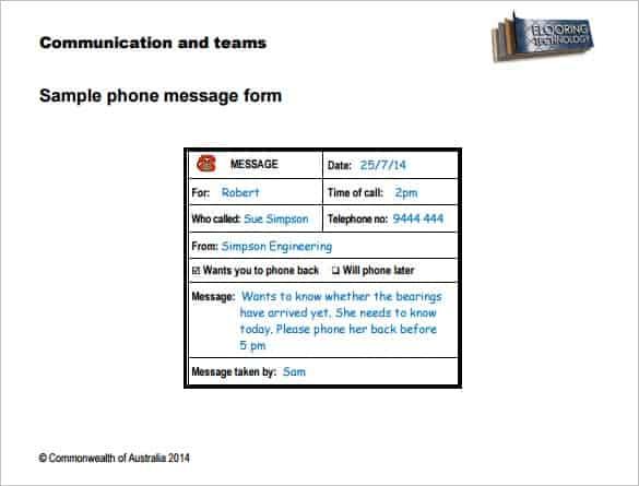 Telephone message image 1