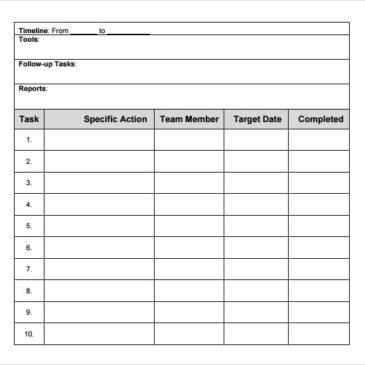 8+ Action plan templates