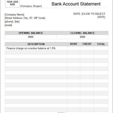 7+ Bank statement templates