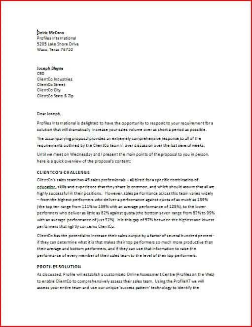 business proposal letter 12 business sample letters word excel pdf formats 13306 | business proposal letter 1