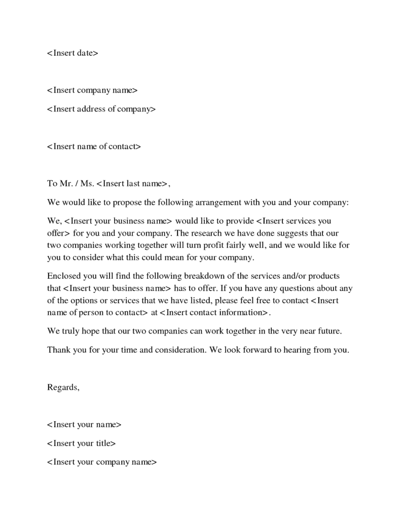 business proposal letter 12 business sample letters word excel pdf formats 13306 | business proposal letter 2