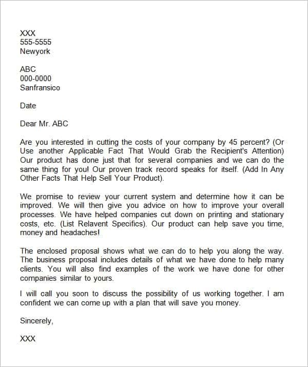 business proposal letter 9