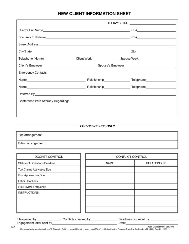 client information sheet template 3