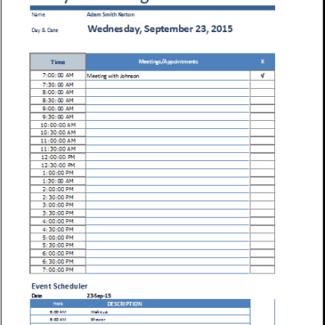 8+ Daily work log templates
