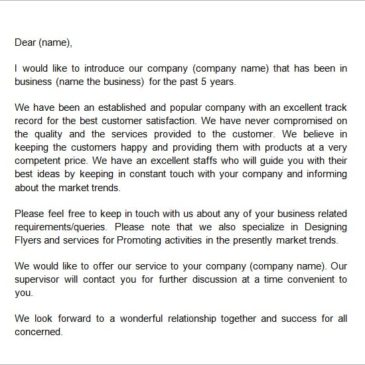 Company Introduction email to client Template Archives - Word Templates