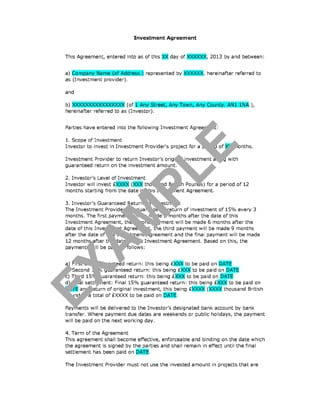 investment contract template 4
