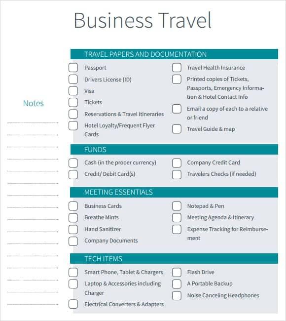 12  itinerary templates