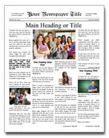 newspaper template image 4