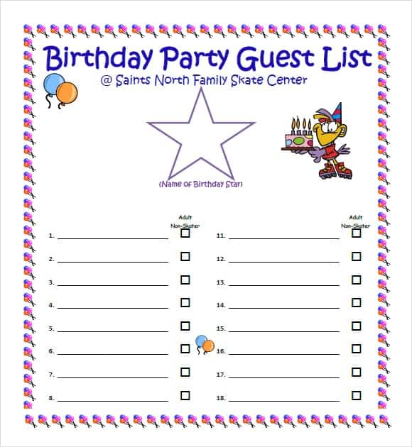 party guest list image 2
