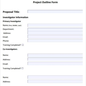 10+ Project outline templates