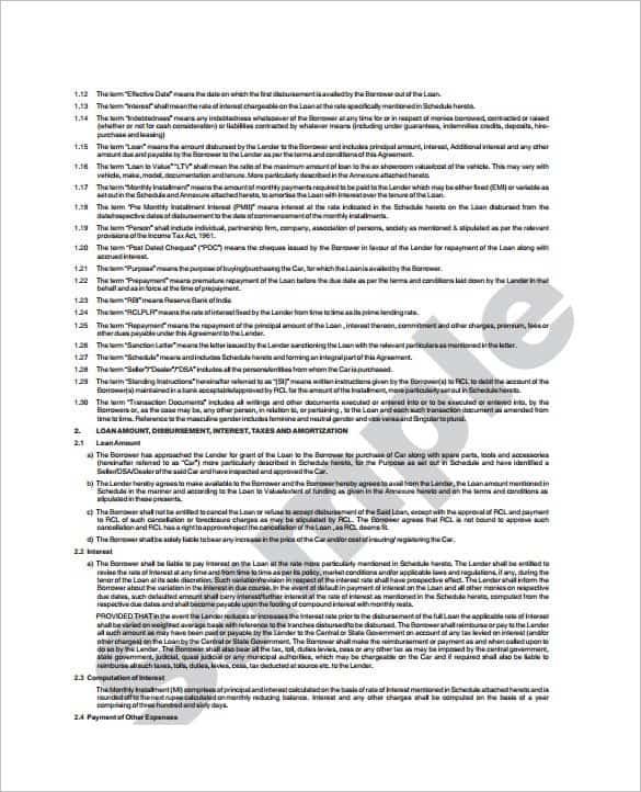 loan agreement template 14