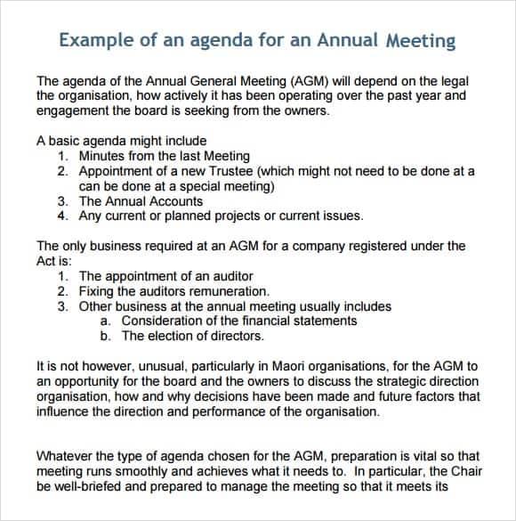 meeting agenda template 14
