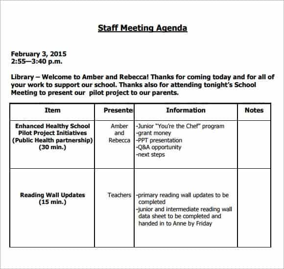 meeting agenda template 19