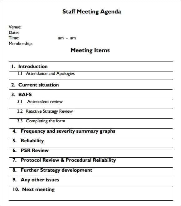 meeting agenda template 20