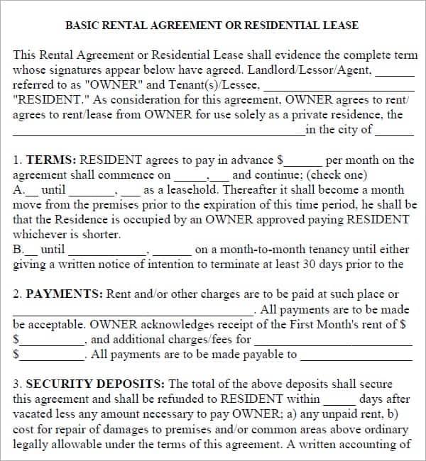 rental agreement template 17