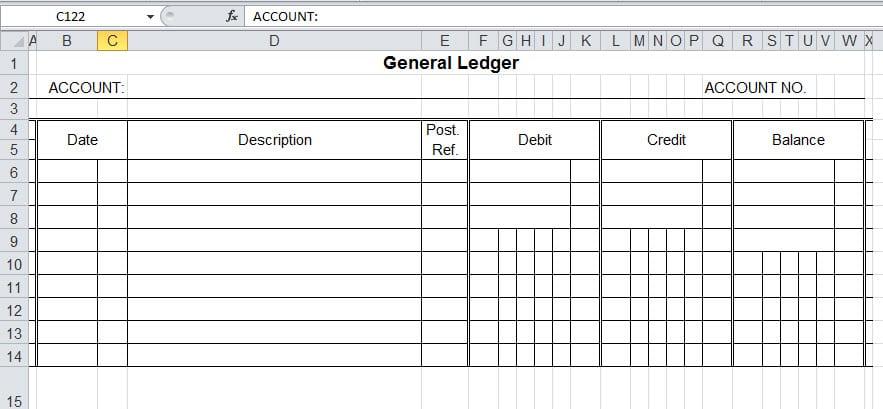 9  general ledger templates