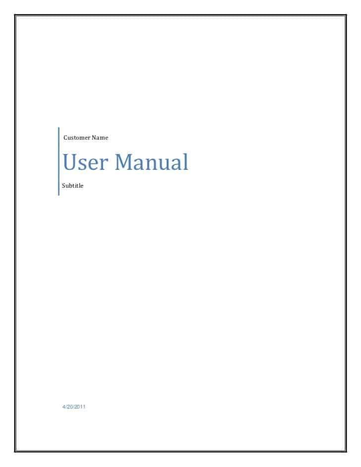 small business operations manual template free - 8 user manual templates word excel pdf formats