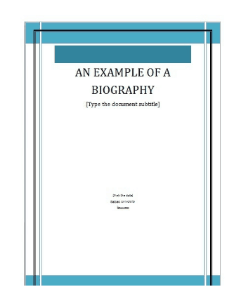 5 Biography Templates Word Excel Pdf Formats